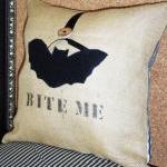 Burlap Decorative Throw Pi..