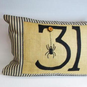 Decorative Kidney pillow cushion cover with Spider and halloween inspired