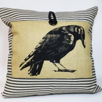Raven Screen Print Pillow
